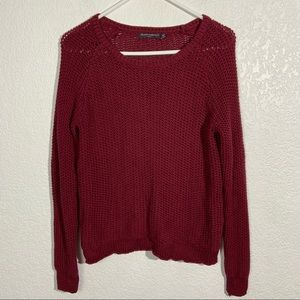 Brandy Melville Red Knit Sweater OS